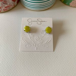 NWT Jessica Simpson Yellow Stud Earrings